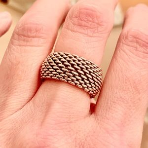 Tiffany Somerset Mesh Dome Ring Size 7.5
